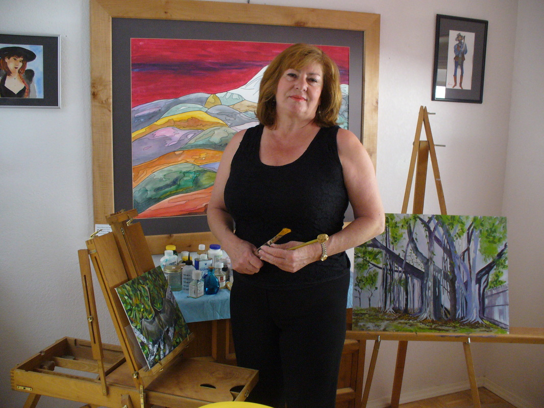 Emese Fisher in her studio